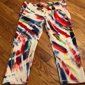 Multi-Colored workout cropped leggings